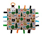 Textured ribbons and fabrics that encourage tactile play Helps children develop cognitively, socially, and emotionally through sensory interaction Ribbons are sewn shut, so little fingers don't get stuck in the loops Made with micro polyester that is...