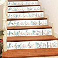 Sqinaa 3D階段ステッカーの自己接着性の取り外し可能モダンなスタイルの階段のデカールリビングルーム店ホールキッチン階段ライザーデカールの家の装飾(7.1x45.7インチ),D