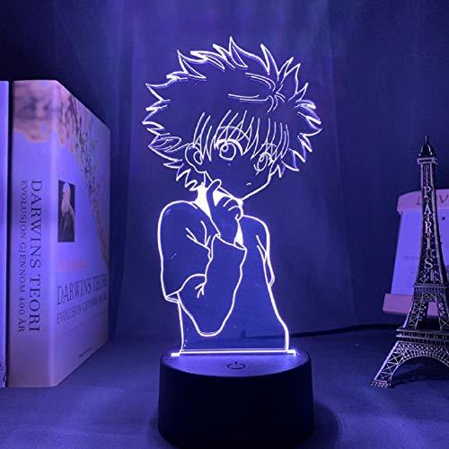 Killua Light Lamp LED 3D Night Lamp Anime Light for Kids Child Bedroom Decor Nightlight Manga Lampara Easter Gift Children's Day Gift