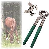 Rong-- Alicates para Caballo De Múltiples Fines Casco Trimmers para Las Cabras Oveja Vaca Ganado Pesado Deber Compuesto Acción Garra Cortador Herradores Herramienta Veterinario Instrumento