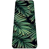 Esterilla de yoga, hojas de palma verde antideslizante para yoga, pilates y gimnasia