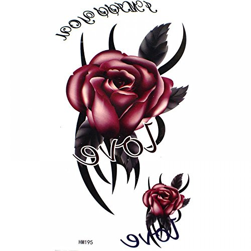 GGSELL AMOUR roi de mariée Cheval rose autocollant de tatouage imperméable à l'eau