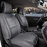 Juego completo de fundas de asiento de coche para asientos delanteros y traseros, piel sintética, apto para Nissan Pathfinder 2004 – 2013, color gris oscuro
