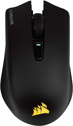 Corsair Harpoon RGB Wireless - Ratón para Juegos Recargable (tecnología Slipstream, retroiluminación LED RGB, 10 000 PPP, óptico) (CH-9311011-EU) Negro