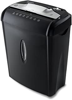 Aurora AU740XA 7-Sheet CrossCut Paper / Credit Card Shredder with Basket, Black