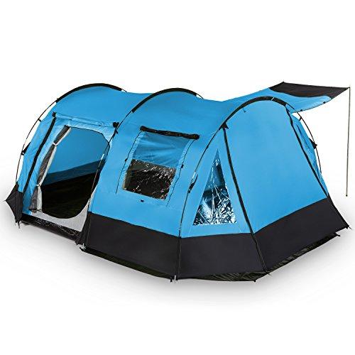 SKANDIKA Kambo 4 (Bleu/Noir) familiale-4 personnes-420 x 275 cm Tentes Tunnel, 4 Places