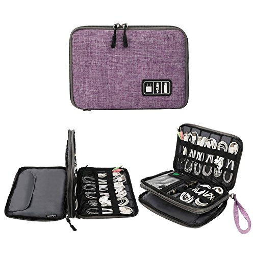 Electronics Organizer, Jelly Comb Electronic Accessories Cable Organizer Bag...