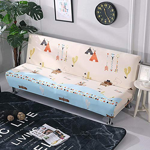 DOGKLDSF Large All-inclusive Sofa Cover, Folding Universal Sofa Cushion Without Armrests,for The Protection Of 3-seater Sofa Furniture