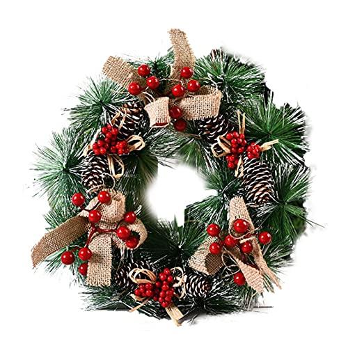 BAODI Guirnalda Decorativa para Interiores y Exteriores Navidad Decoración Guirnalda Simulación Hecha A Mano Guirnalda de Navidad Puerta Colgante Ventana Registro Decoración (Color : A1)