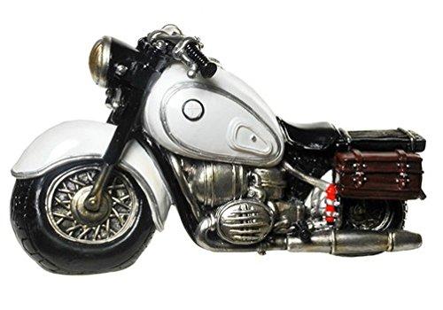 Udo Schmidt GmbH & Co Spardose Motorrad Old Style schwarz oder weiß, Farbe:weiß