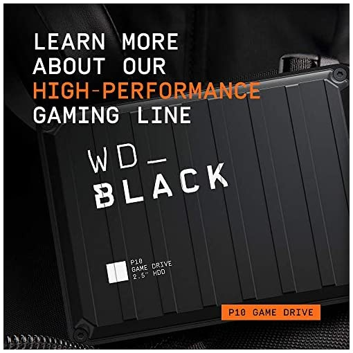 Western Digital Gaming Drive - Disco duro externo portátil para PlayStation 4 de 2 TB, color negro 6
