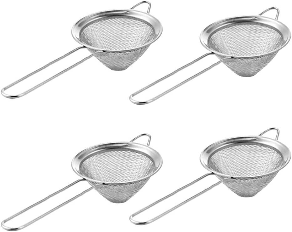 Colorado Springs Mall Limited time for free shipping Hemoton Fine Mesh Sieve Strainer 4pcs Colander Steel Stainless