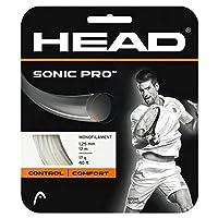 ヘッド [単張パッケージ品] ソニックプロ Sonic Pro (125/130) 硬式テニス ストリング ポリエステルガット 281028 ゲージ:1.25mm ホワイト [並行輸入品]