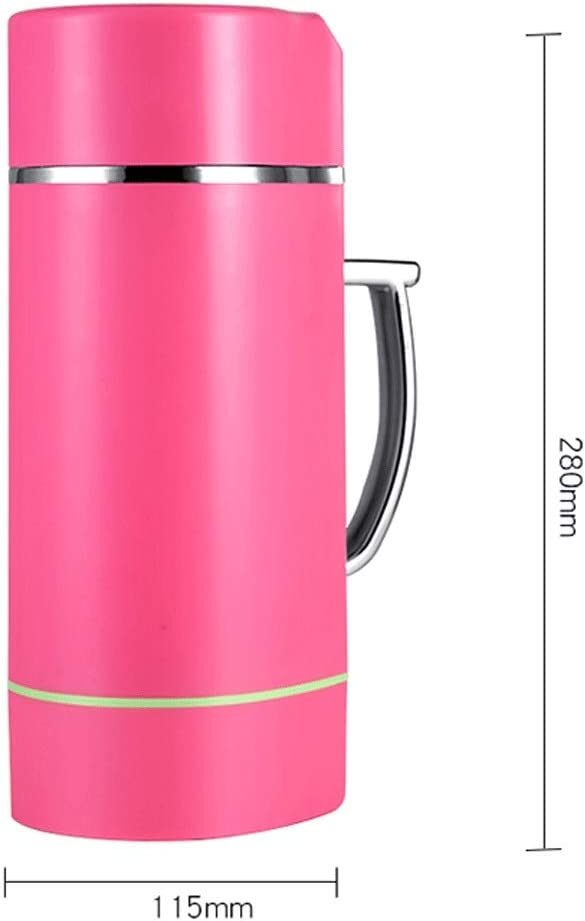MBBJJ Multicolor Selección Full-automática de calefacción Multifuncional Pequeño Mini Inicio Leche de Soja Exprimidor (Color : Pink) Brown