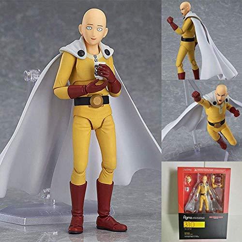 Liiokiy 14cm Anime Figura One Punch Man Saitama Figura Anime Puppets Figura PVC Modelo Modelo Estatua Estatua Figura de Acción, Movable Junta Saitama Héroe En forma Figura...