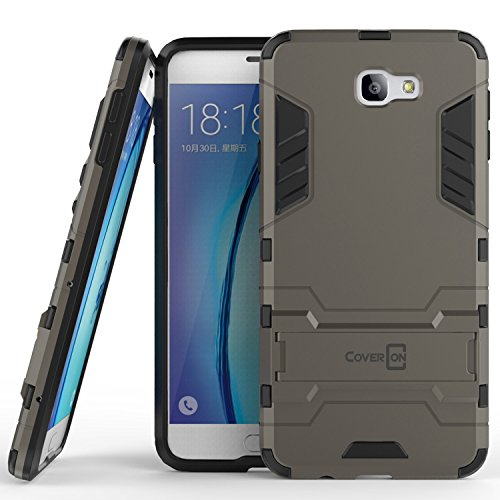 Galaxy On7 2016 Case, Galaxy On NXT Hard Case, CoverON Shadow Armor Series Modern Style Slim Hard Hybrid Phone Cover with Kickstand Case for Samsung Galaxy On7 2016 / On Nxt - Gray
