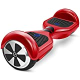Chic Eyourlife UL 2272 Certified Hoverboard for Kids and Adults - 6.5' Electric Self Balancing Scooter (MAX 220 lbs),Battery Power-off Protection,LED Lights for Safety,One-Year Warranty Red