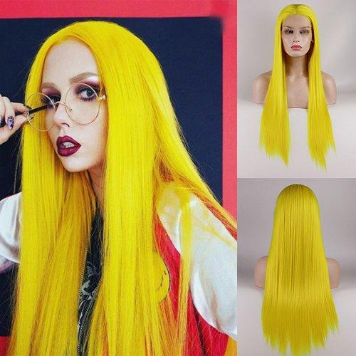 comprar pelucas amarillas largas