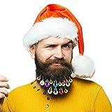Aitsite Adornos Navideños,25 Piezas Adornos de Barba Brilla