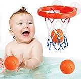 Addmos Baby Bath Toys, Fun Basketball Hoop & Balls Set Bathtub Toys for Boys Girls Kid & Toddler Bath Toys Gift Set 3 Balls Included