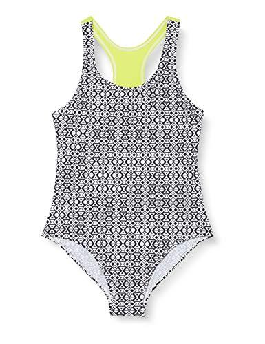 Schiesser Mädchen Badeanzug, Schwarz (Schwarz-Gem), 140