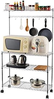 KOKOF Étagères, cuisines et fours, étagères de rangement, appareils multifonctionnels amovibles, étagères de stockage de f...