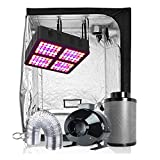 TopoGrow LED Grow Tent Complete Kit LED 600W LED Grow Light Kit +60'X60'X80' Indoor Grow Tent + 6' Fan&Filter&Ducting Combo Hydroponics Tent System