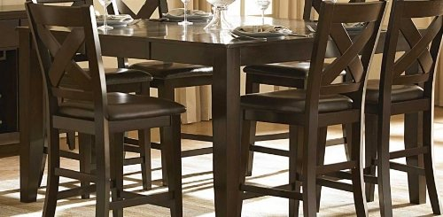 Merlot Extension Dining Table With 6 Chairs Chair Pads