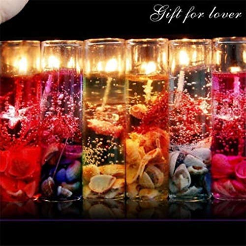JXLINAAHHH Romantische Glasflaschen Ozean rauchfrei Gel-Wachs Hochzeit Gel-Kerzen Showy 5 Stück