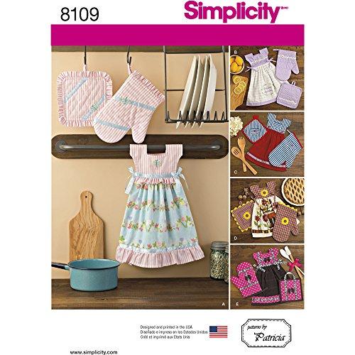 Simplicity Handtuch Kleider/Topflappen und Ofenhandschuhe Schnittmuster, Papier