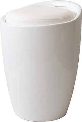 宮武製作所 収納スツール ホワイト 幅36×奥行き36×高さ50cm(座面高:46.5cm)Runt(ルント) 持ち手付き CH-K100 WH