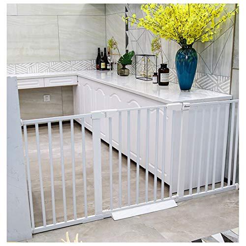 Barrière de sécurité Safety 1st Porte de Sécurité Porte de Bébé, Décoratif Installation Facile Métal Sécurité Porte D'escalier avec Opération à Une Main et Durabilité, Blanc (Size : Width 124-131cm)
