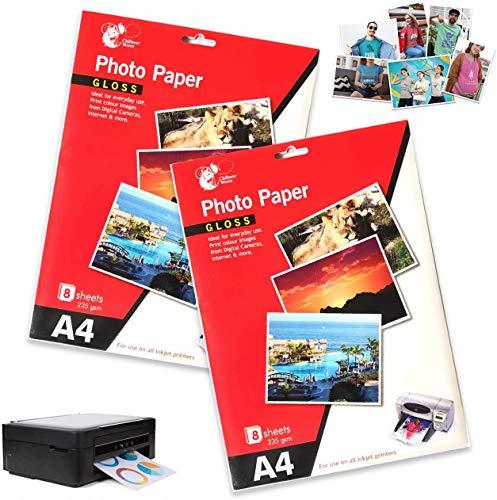 24 Blatt Fotopapier A4 210 x 297 mm 235 g/m² für Canon HP Epson Tintenstrahldrucker