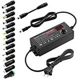 SHNITPWR Universal AC to DC Adapter 3V ~ 24V 2A 48W Switching Power Supply 3V 5V 6V 9V 12V 15V 18V 19V 20V 24V 1A 1.5A 2 Amps Adjustable AC/DC Converter Transformer with 14 Tips & Polarity Converter