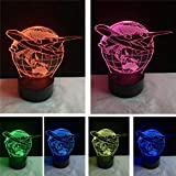 Lámpara de ilusión 3D Luz de noche LED Fly Earth Plan Avión Globo Earth 7...