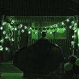 Halloween Grüne Augapfel-Lichterkette mit Fernbedienung, 30 LEDs Batteriebetrieben Wasserdicht Augapfel-Lichter mit 8 Beleuchtungsmodi für Halloween Party Indoor Outdoor Garten Yard Dekorationen - 8