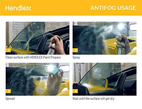 517wX lZyNL - Hendlex Anti Fog Spray for Goggles, Car Windshield Treatment and Bathroom Mirror Multi Purpose and Long Lasting 3.38