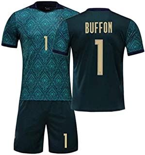 Unisex Erwachsene Kinder Fußball Trikot Buffon 1 Personalisierte Football Jersey T-Shirt Und Shorts Sportbekleidung Trainingskleidung
