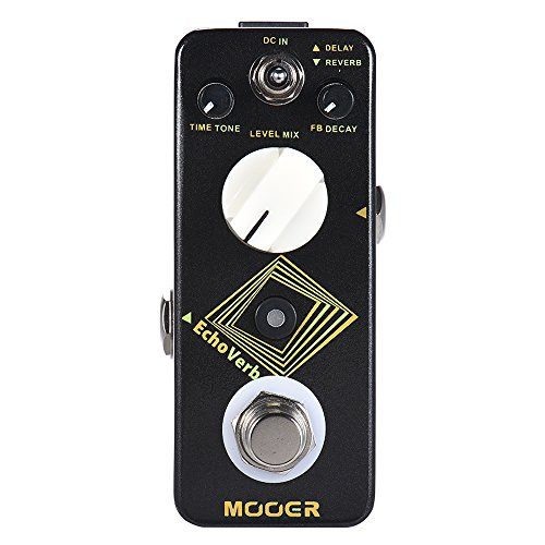 CAMOLA Mooer Audio EchoVerb Digital Delay and Reverb Guitar Effect Pedal