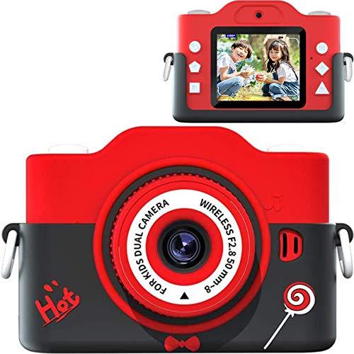 Children's Camera (2021 Latest Version), Children's Digital Camera, 70 Million Pixels, 8x Digital Zoom, HD Recording, Timer Shooting, Selfie Function, HD Resolution, Easy Operation, 32 GB Memory Card, USB Charging, Children's Gift, Age Limit 6+