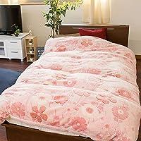掛け布団カバー シングル おしゃれ 冬用 あったか 花柄 ピンク かわいい フランネル 150×210cm