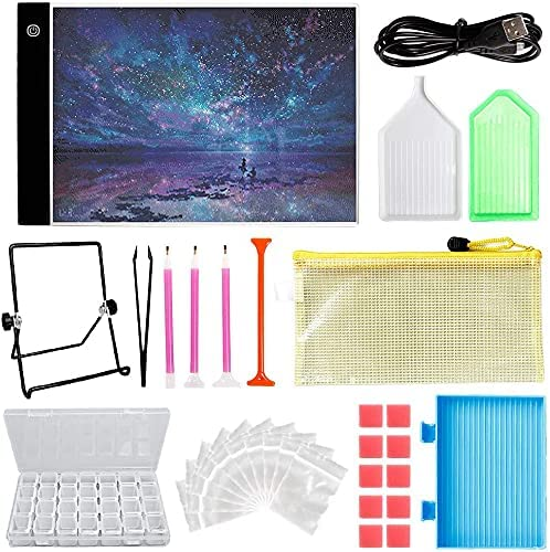 LAMPTOP Elegant Dimmable Ranking TOP2 Light Box Diamond A4 Kit Painting Including LE