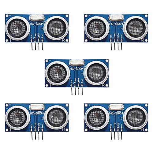 Electrely 5Pcs HC-SR04 Moduli Ultrasuoni Sensore Misuratore Distanze per Arduino Uno MEGA2560 Raspberry Pi