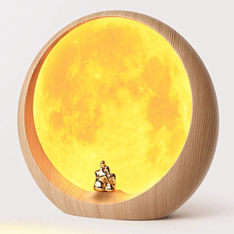 Home Schlafzimmer Dekoration Mondlicht Mit Schlaf Licht Atmosphre Nachtlicht Nachttischlampe LED (verstecktes Mondgelbes Licht)