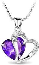 KATGI Fashion Austrian Crystals Heart Shape Pendant Necklace