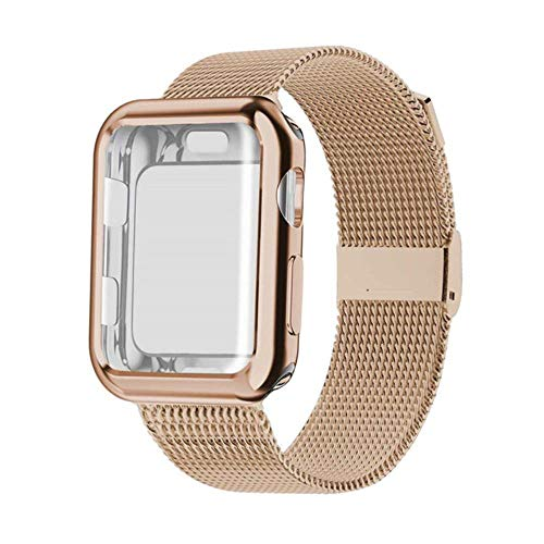 Estuche + Correa para Apple Watch Band Mlianese Loop para Apple Watch 5 4 3 Band 42Mm 38Mm para Iwatch Band 44Mm 40Mm Correa Pulseira Pulsera, China, Oro Claro