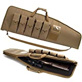 SW SOWLAND Soft Rifle-Case Padded Gun-Cases Tactical Bags - Outdoor Sports Cases with 5 Pockets Khaki 38'