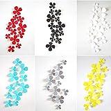BLOUR 12 unids/Lote 3D PVC Multicolor Flores pequeñas Viscosa DIY Pegatina De Pared decoración del hogar Gran Oferta Adesivo De Parede