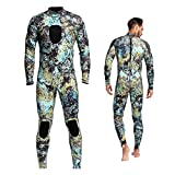 Dyung Tec Wetsuits Mens 3MM Camo Neoprene Scuba Diving Unisex One Piece Sport Skin Spearfishing Full Suit (XXL)