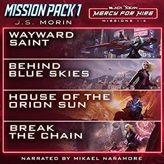 Mercy for Hire Mission Pack 1: Missions 1-4     Black Ocean Mission Pack, Book Five              By:                                                                                                                                 J.S. Morin                               Narrated by:                                                                                                                                 Mikael Naramore                      Length: 23 hrs and 30 mins     52 ratings     Overall 4.7